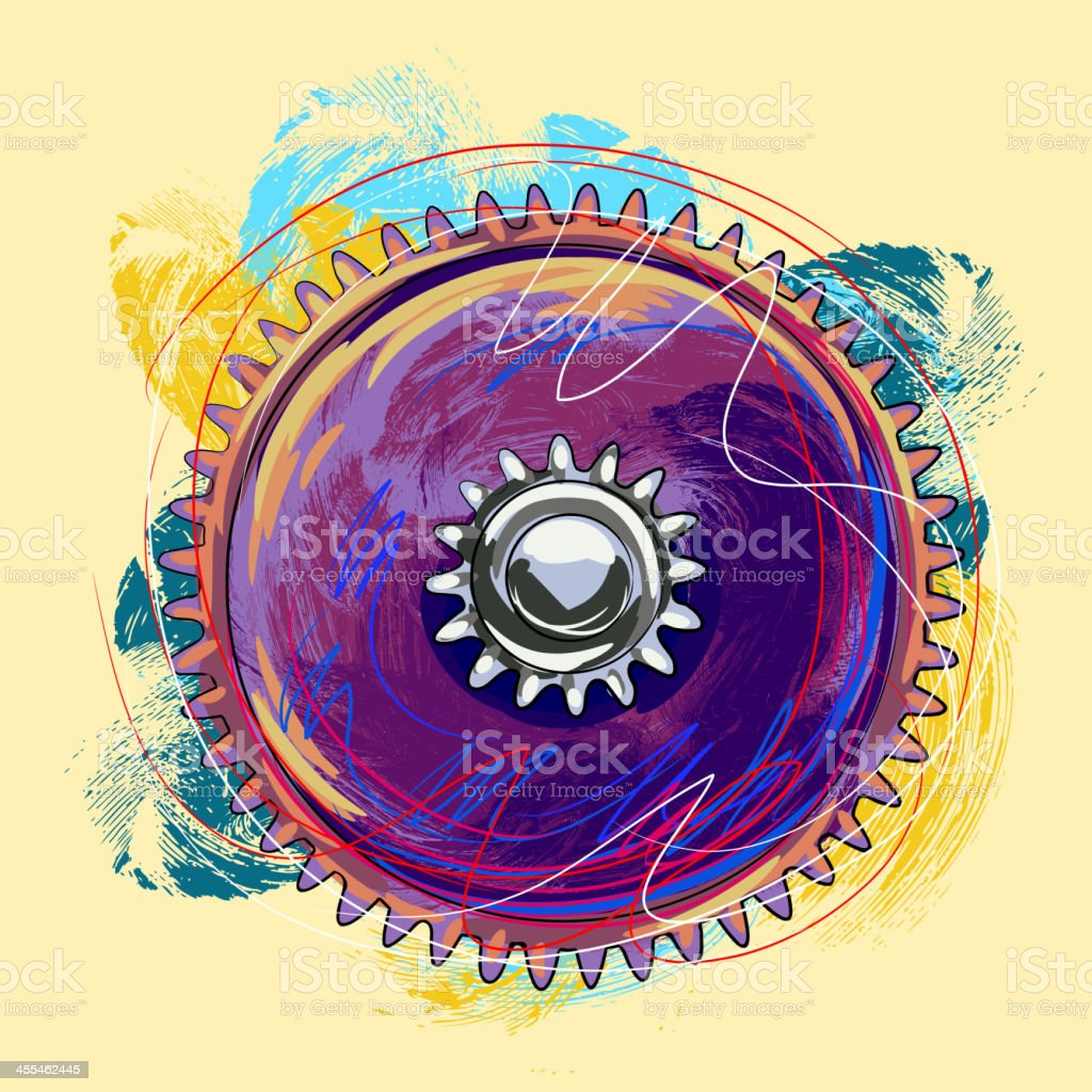 Colorful Gear royalty-free colorful gear stock vector art & more images of art