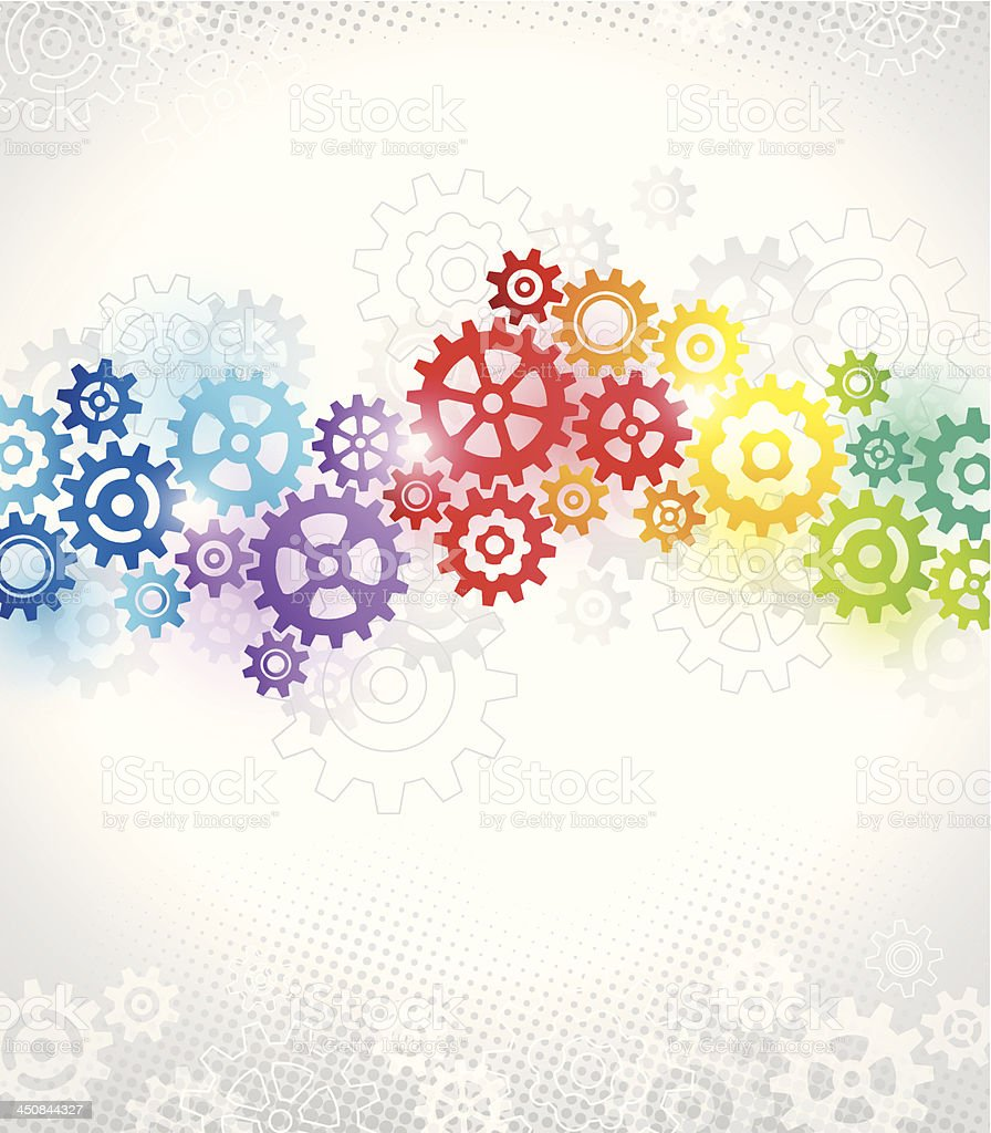 Colorful Gears Background Stock Vector Art & More Images ...