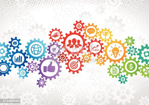 istock Colorful Gears Business Concept 474406440
