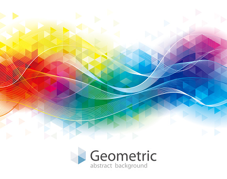 Colorful Geometric and wave Background