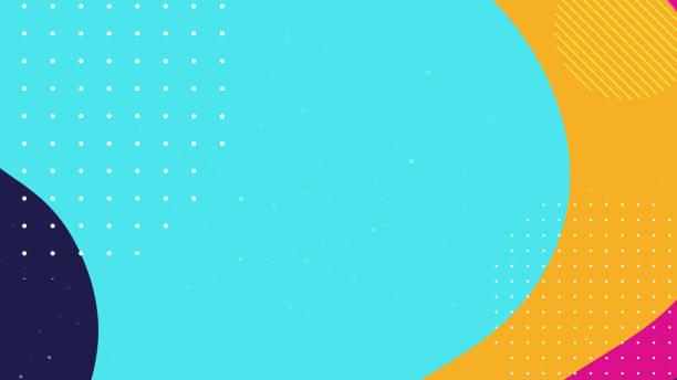 kolorowe tło geometryczne - kolory stock illustrations