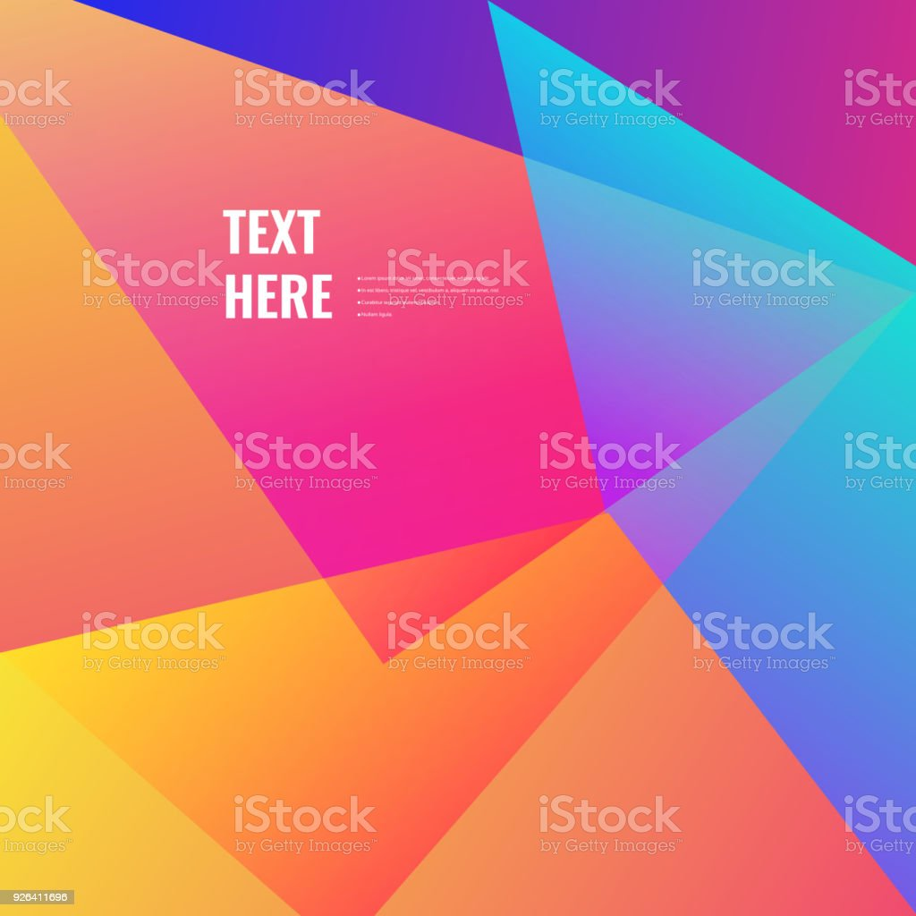 Colorful geometric background vector art illustration