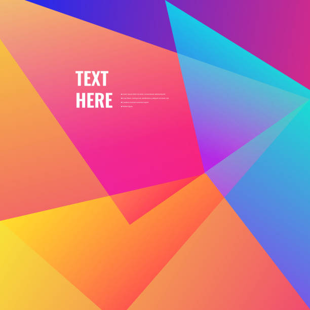 colorful geometric background - vibrant color stock illustrations
