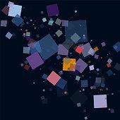 colorful geometric check minimalism ornate pattern background