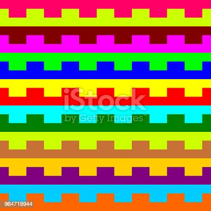 Colorful Geometric Pattern Background Vector Stock Vector Art & More Images of Abstract 964719944