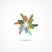 Colorful Geometric pattern icon