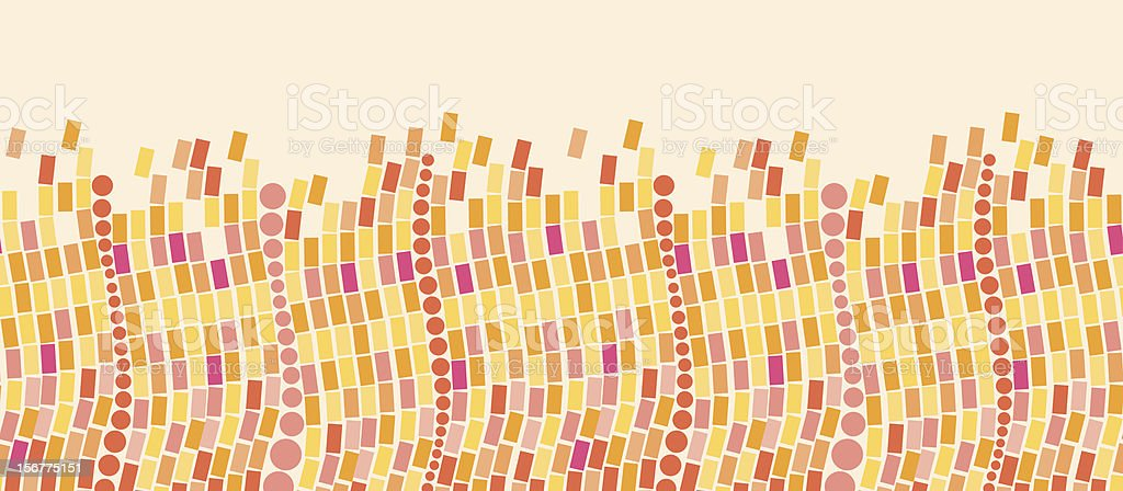 Colorful Geometric Tile Horizontal Seamless Pattern Border royalty-free stock vector art