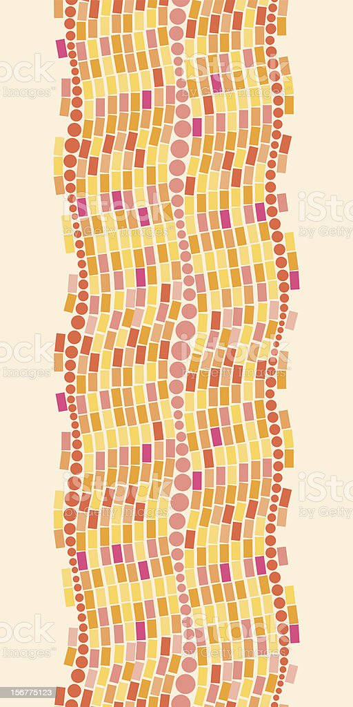 Colorful Geometric Tile Vertical Seamless Pattern Border royalty-free colorful geometric tile vertical seamless pattern border stock vector art & more images of abstract