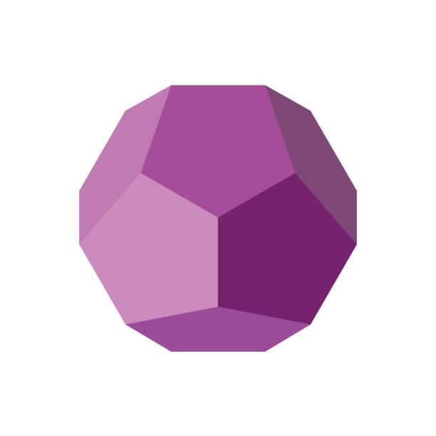 stockillustraties, clipart, cartoons en iconen met kleurrijke geometrische figuur vectorillustratie: dodecaëder - veelvlakkig