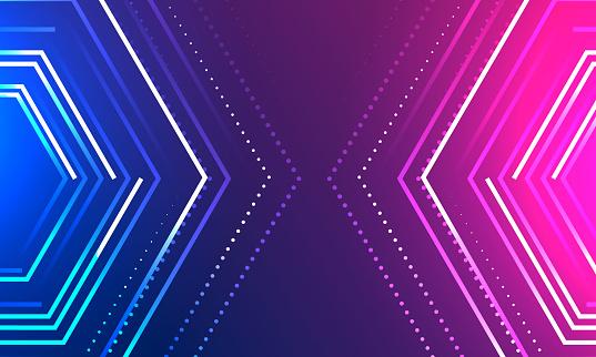 Colorful geometry pattern background stock illustration