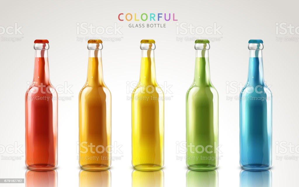 colorful glass bottles colorful glass bottles - arte vetorial de stock e mais imagens de alívio royalty-free