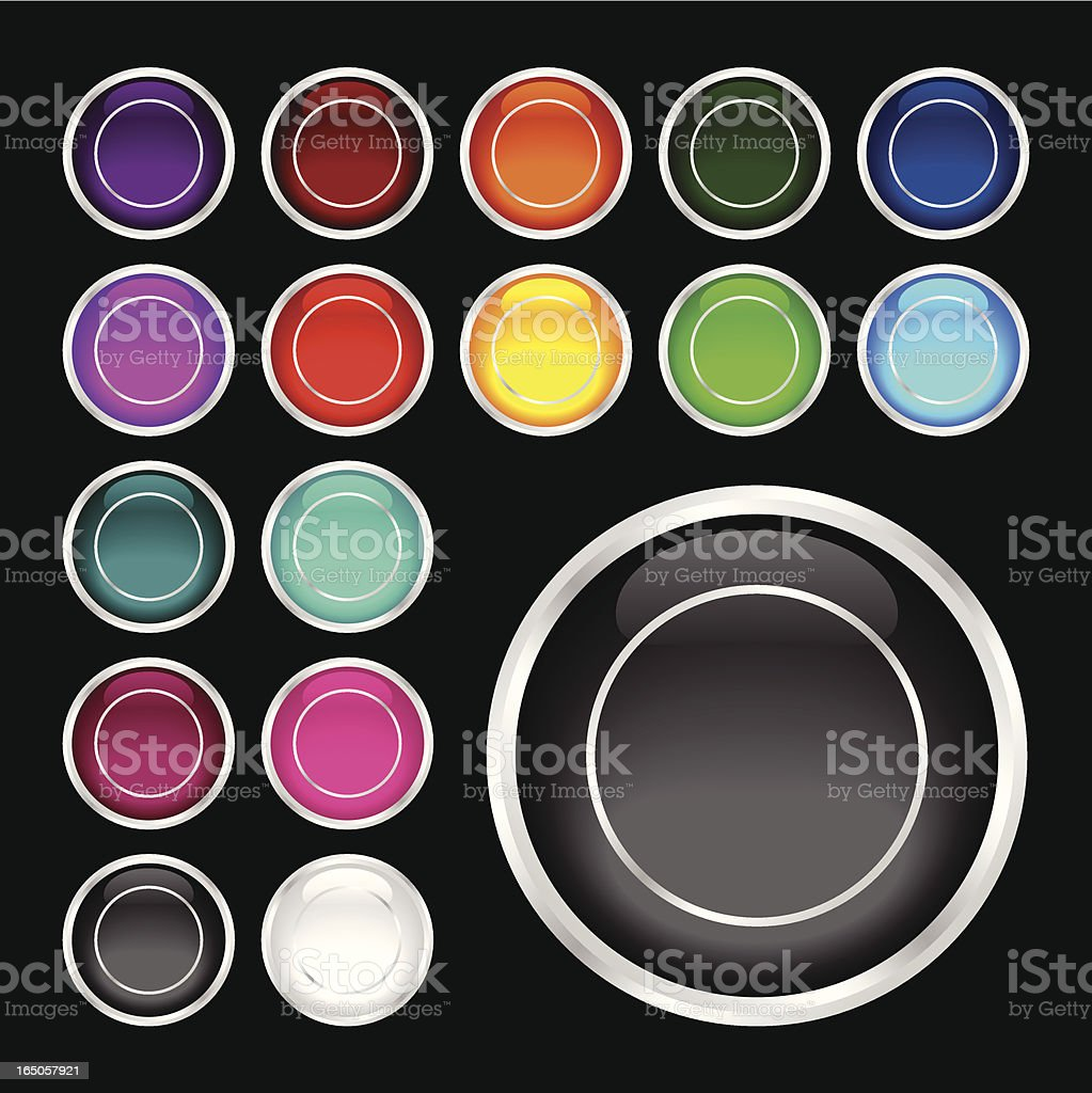 Colorful Glass Rollover Buttons royalty-free stock vector art