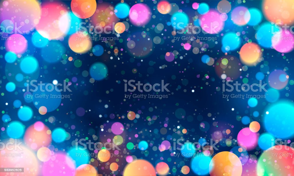 Colorful glittering light blots. Different colored glittering light stains on light background. vector art illustration
