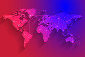 Colorful global network connection background, vector, illustration, eps file