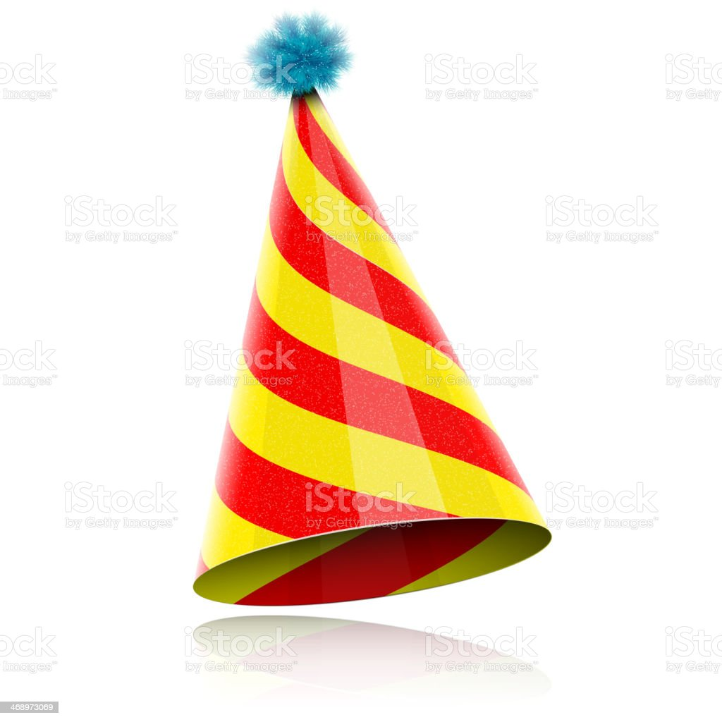 Colorful Glossy Hat For Celebration. vector art illustration