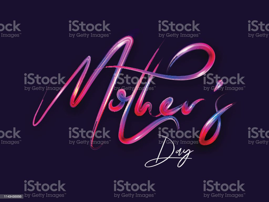 Colorful glossy text of \