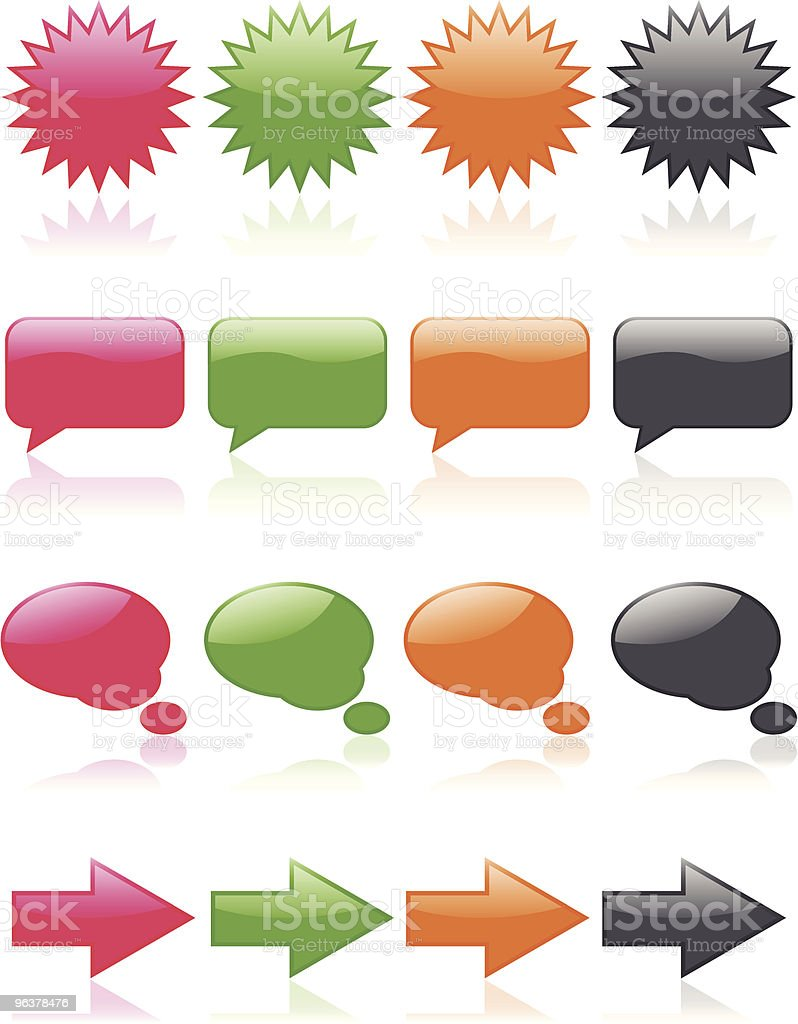 Colorful Glossy Web Icons royalty-free stock vector art