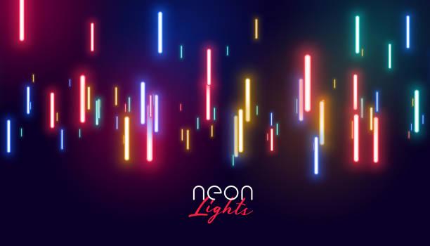 bunte leuchtende Neonlichter Hintergrund – Vektorgrafik