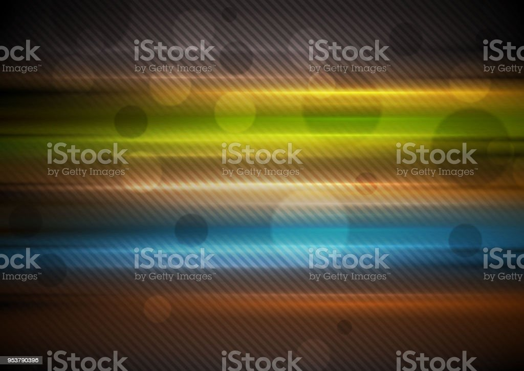 Colorful glowing stripes abstract background vector art illustration