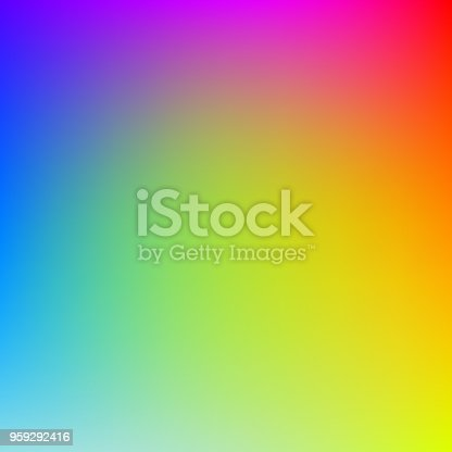 Colorful gradient background in bright rainbow colors. Abstract blurred image.