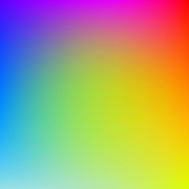 stockillustraties, clipart, cartoons en iconen met kleurrijke achtergrond met kleurovergang in heldere regenboogkleuren. abstract beeld wazig. - regenboog