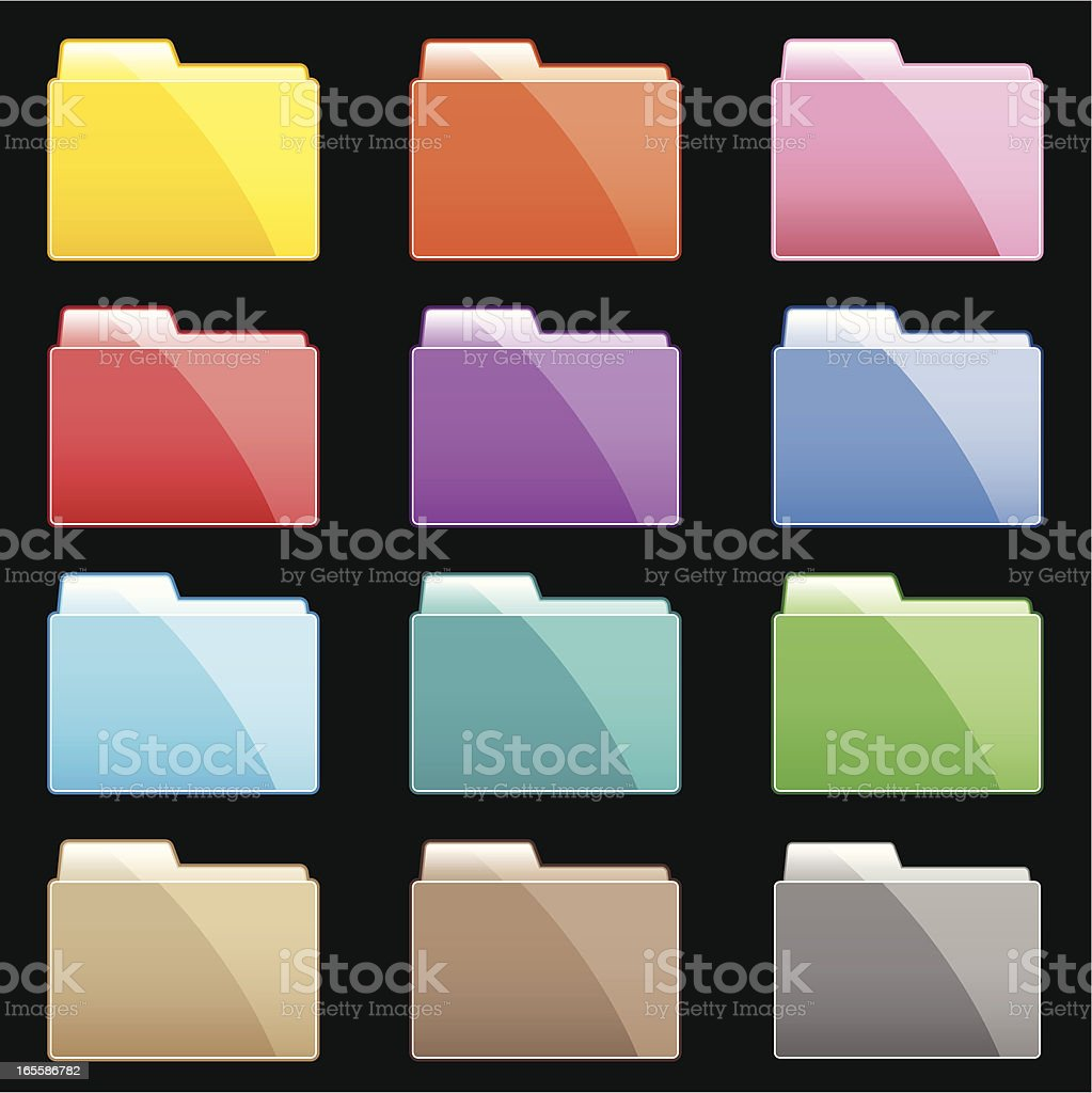 Colorful Gradient Folders royalty-free stock vector art