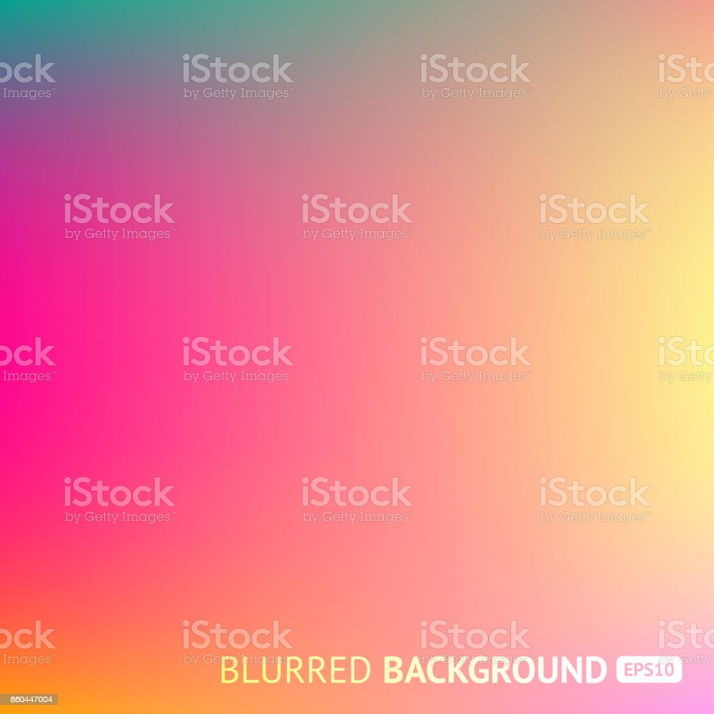 Colorful gradient mesh background in bright rainbow colors. Abstract blurred image vector art illustration