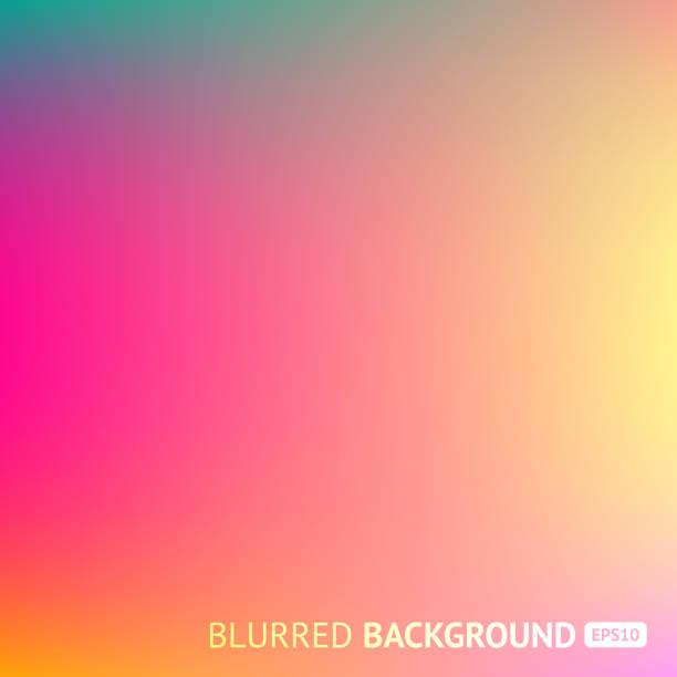 ilustraciones, imágenes clip art, dibujos animados e iconos de stock de fondo colorido malla de degradado en colores del arco iris brillante. resumen imagen borrosa - fondos coloridos