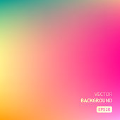 Colorful gradient mesh background in bright rainbow colors. Abstract blurred smooth image. Easy editable illustration for spring and summer designs.