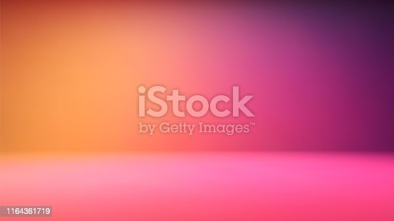Colorful green gradient studio backdrop with empty space for your content