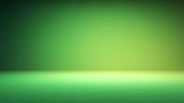 stockillustraties, clipart, cartoons en iconen met kleurrijke groene gradiënt studio achtergrond - groene acthergrond