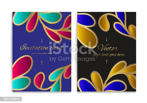 istock Colorful greeting card design. Luxury vector ornament template. Great for invitation, menu, brochure, wallpaper, decoration, packaging or any desired idea. 1304169541