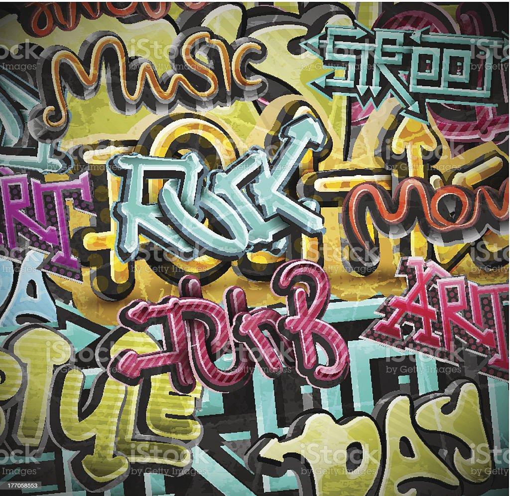 colorful grunge graffiti background stock vector art
