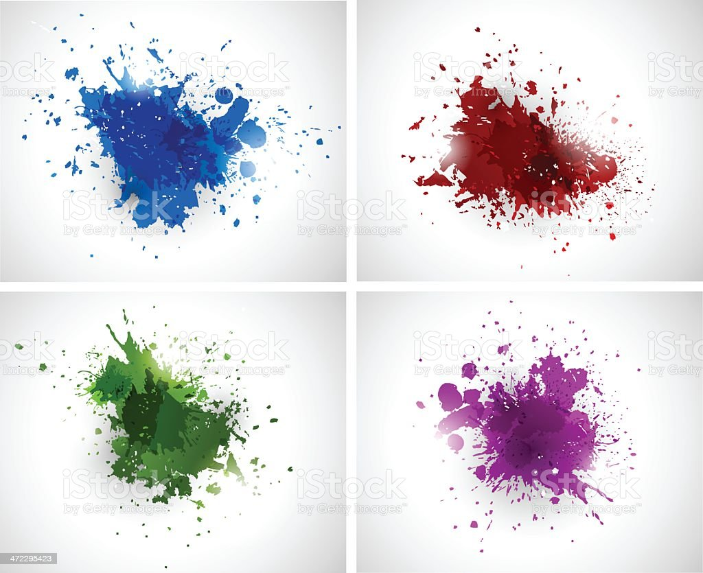Colorful grunge splashes royalty-free stock vector art
