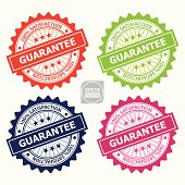Colorful Guarantee Sign or Rubber Stamp.