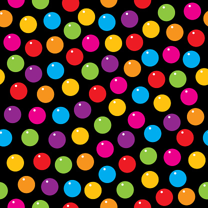 Colorful Gumballs Seamless Pattern