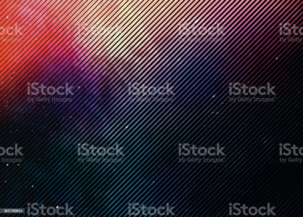 Colorful Half tone pattern background with space and stars vector art illustration