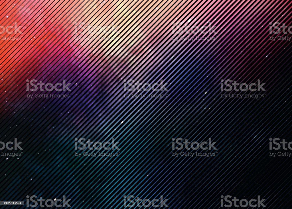 Tono medio colorido de fondo con espacio y las estrellas - ilustración de arte vectorial