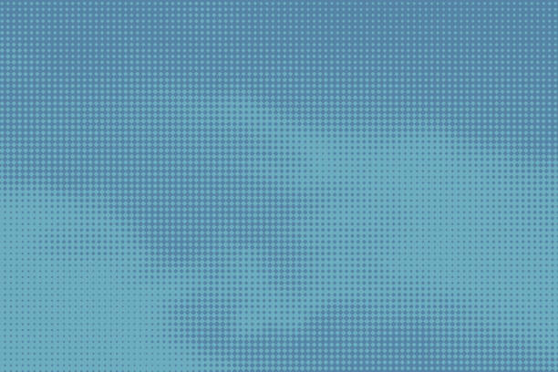 Colorful Halftone Pattern Abstract background suggesting clouds vector art illustration