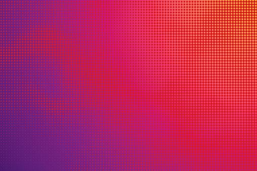 Colorful Halftone Pattern Abstract Background — стоковая векторная графика и другие изображения на тему Абстрактный
