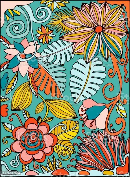 Colorful hand drawn postcard with tropic flowers jungle palm leaves vector id1174817634?b=1&k=6&m=1174817634&s=612x612&h=h4coh2timzc9rbs xnriuoyhxtkktftzdmm60 7owsq=