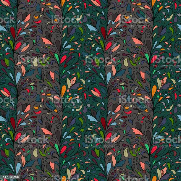 Colorful hand drawn vector seamless floral pattern with flowers and vector id517133596?b=1&k=6&m=517133596&s=612x612&h=mqtlryybhu95d cicspzal3c 5bkwzhasrynjtypqyw=