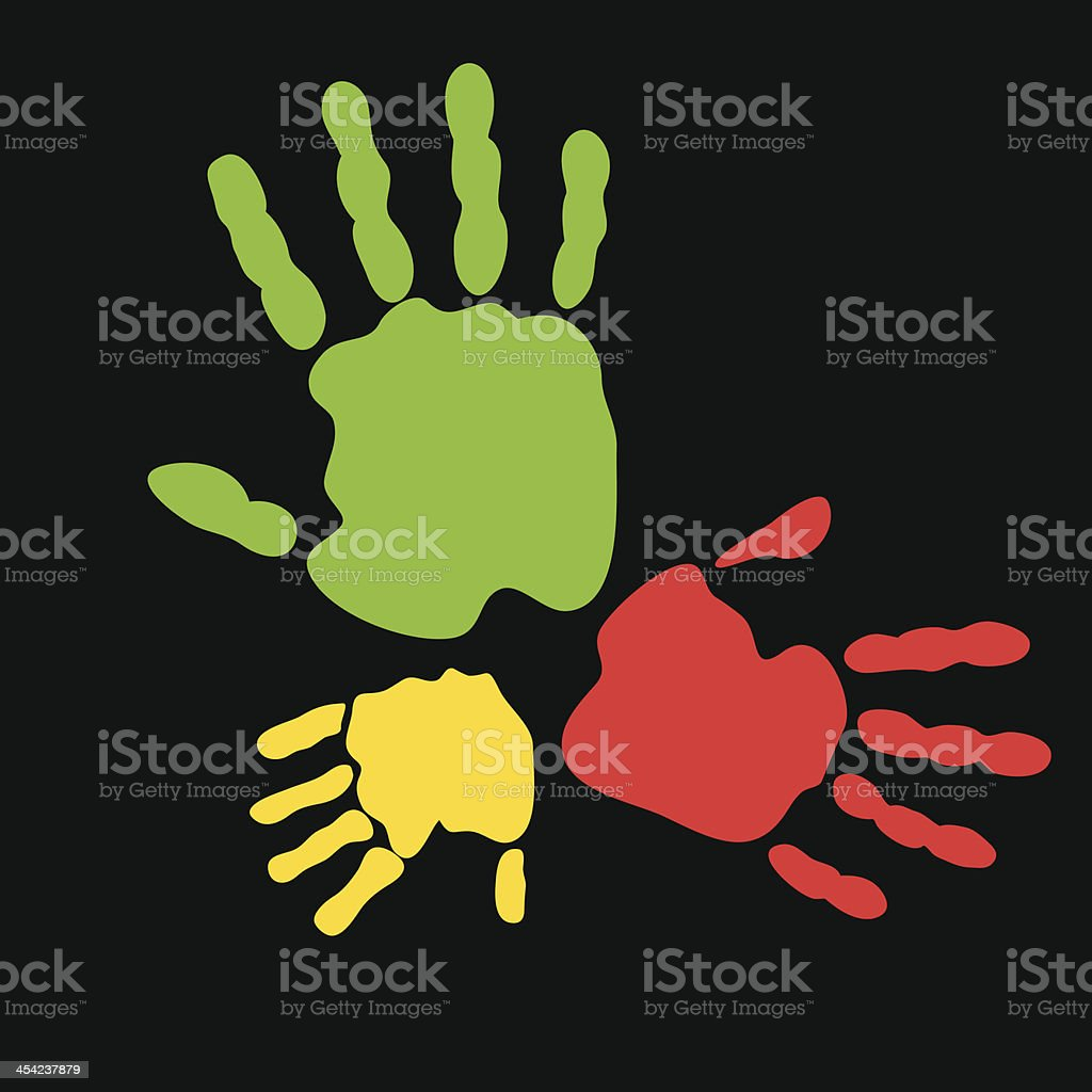 Colorful hand prints royalty-free colorful hand prints stock vector art & more images of abstract