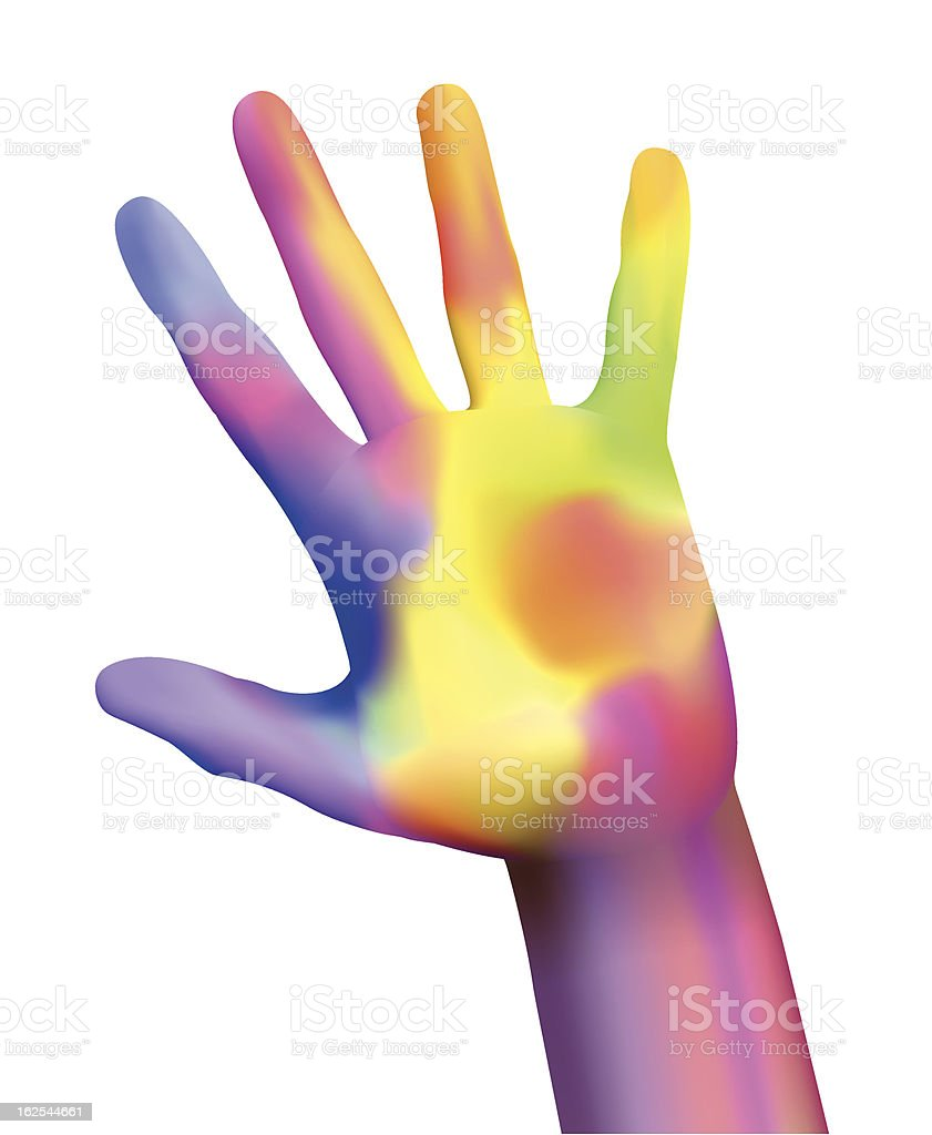 colorful hand vector art illustration