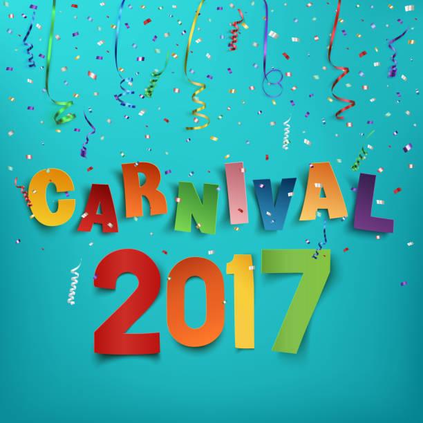 ilustrações, clipart, desenhos animados e ícones de colorful handmade typographic word carnival 2017. - carnaval