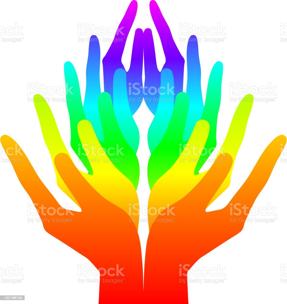 colorful hands royalty-free stock vector art