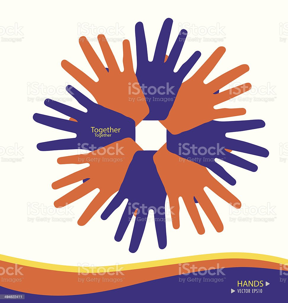 Colorful hands. Vector illustration. royalty-free colorful hands vector illustration stock vector art & more images of abstract