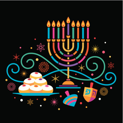 Colorful Hanukkah