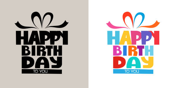 3D Colorful happy birthday calligraphy 0006 3D Cute rainbow colorful bubble with pattern calligraphy of happy birthday for an anniversary celebration and invitations greeting card on the white background vector illustration birthday stock illustrations