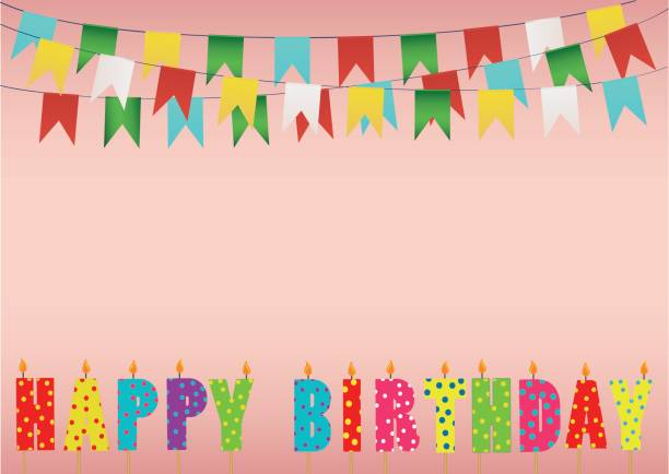 Rainbow Birthday Candles Clip Art Vector Images Illustrations
